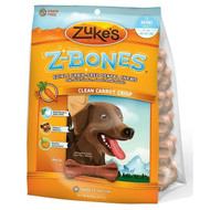 Zuke's Z-Bones Grain-Free Dental Chews for Dogs-Clean Carrot Crisp