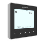 Black Programmable Digital Thermostat with Hot Water- 230V