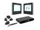 Heatmiser NeoKit 2 Black Programmable Digital Thermostat for Wifi c/w Hot Wat...