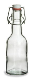 8.5 oz (250 ml) Dessert Clear Glass Bottle with Swing Top - DST8ST