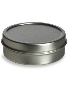 2 oz Flat Tin Container with Slip Cover - TNF2