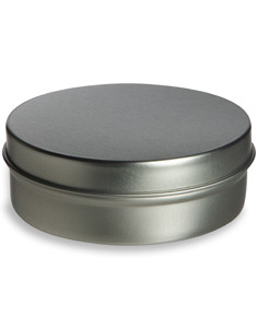 4 oz Flat Tin Container with Slip Cover - TNF