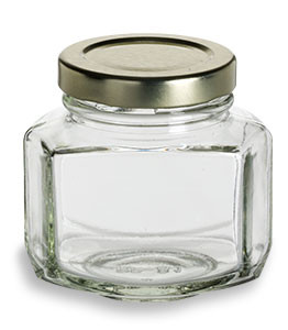 oval hexagon glass jar oz 3 to 4 oz specialty bottle. Black Bedroom Furniture Sets. Home Design Ideas