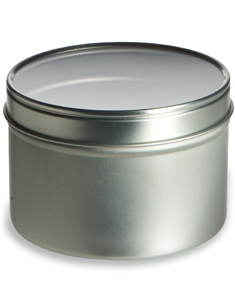 16 oz Deep Tin Container with Clear Top Cover - TCT16