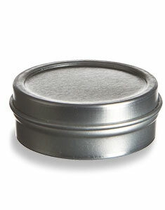 1/2 oz Flat Tin Container with Slip Cover - TNG1/2