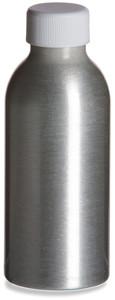 4 oz (120 ml) Aluminum Bottle with White Cap - ALUM4W
