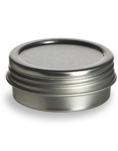 1/2 oz Flat Tin  Container with Screwtop Cover - TSC1/2