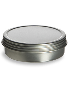 2 oz Flat Tin  Container with Screwtop Cover - TSC2