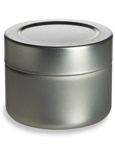 3 oz Deep Tin  Container with Twistlug Cover - TTL3