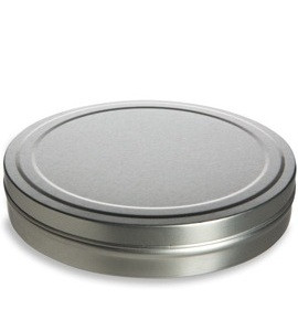 """5.06"""" by .93"""" Round CD Style Tin with Slip Cover - TCD8"""