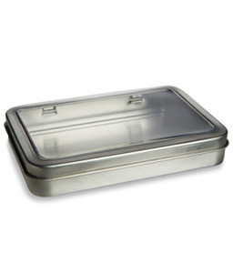 "5.5"" by 3.7"" Rectangular Hinged Window Tin - THN8"