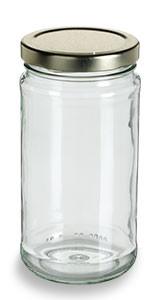 12 oz Clear Tall Glass Jar with Gold Lid - TAL12