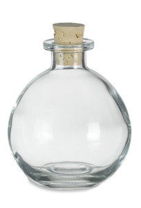8.5 oz (250 ml) Round Glass Bottle 8.5 oz with Cork - CKRD250