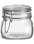 19 oz Bale Square Glass Jar with Swing Top Lid - BALE19