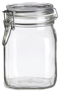 38 oz Bale Square Glass Jar with Swing Top Lid - BALE38