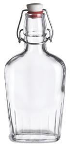 8.5 oz (250 ml) Flask Clear Glass Bottle with  Swing Top - FLSK8ST