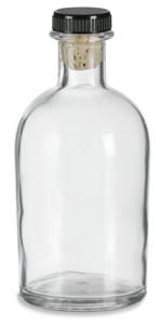 8.5 oz (250 ml) Boston Glass Bottle with T Top Cork - CKBS250T