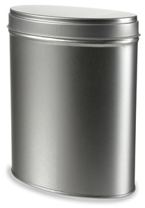 """5.4"""" Oval Stackable Tea Tin with Slip Lid - TOVL5"""