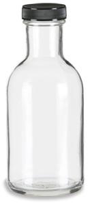 12 oz Round Stout Bottle with Black Cap - STOUT12