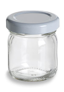 Jam Glass Jar With White Lid 1 5 Oz Specialty Bottle