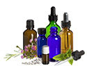 Essential Oils, with droppers in many sizes.