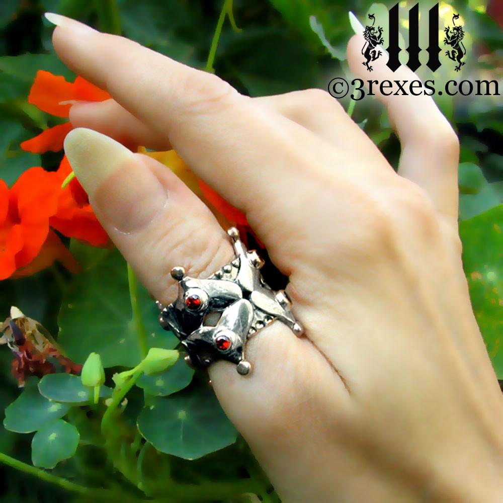 fairy tale gothic heart wedding crown on thumb