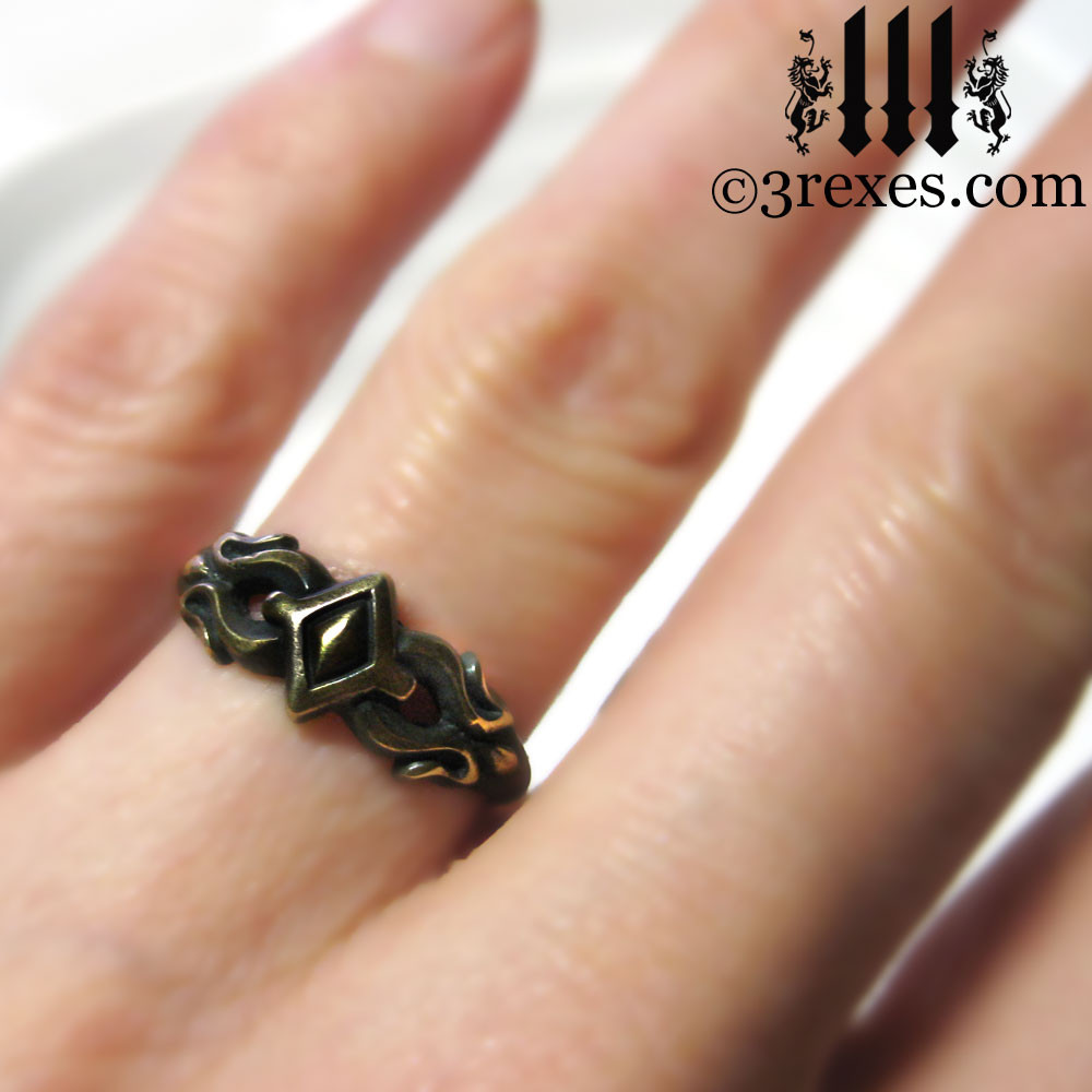 antiqued friendship ring