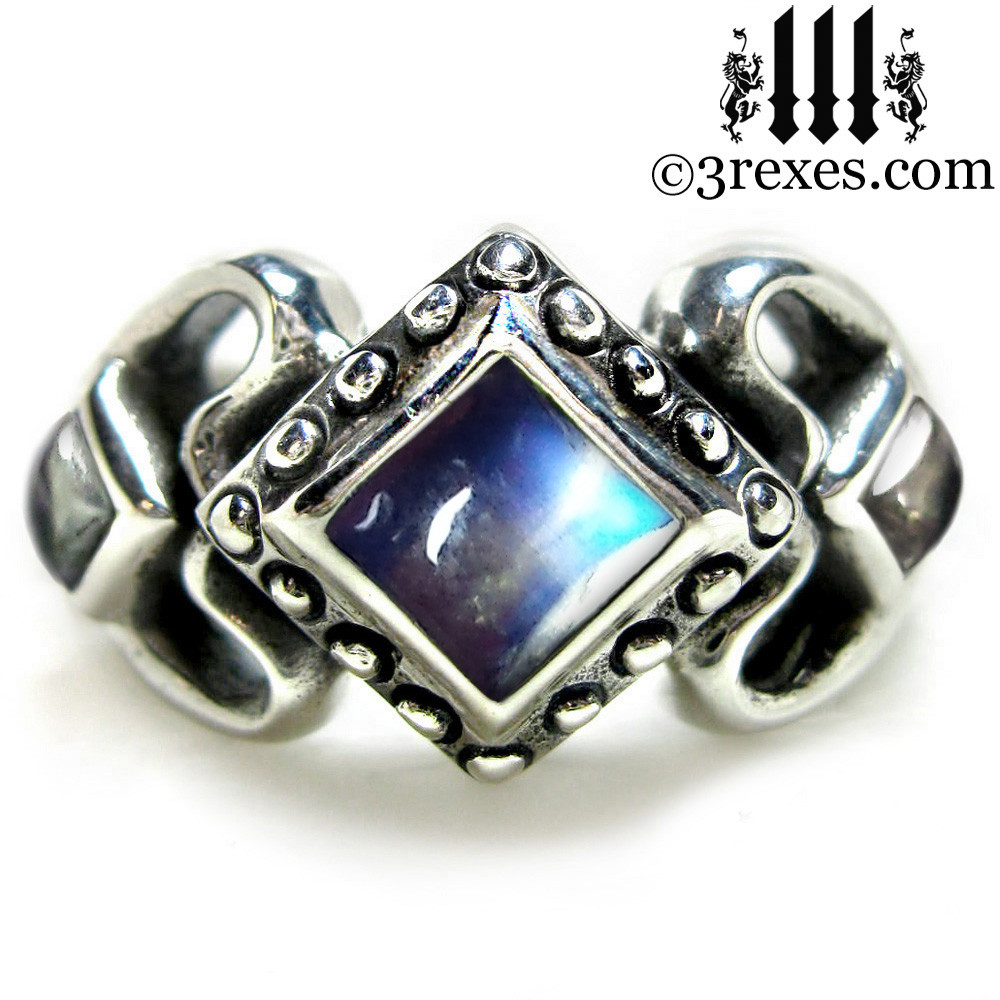 princess love gothic engagement ring with moonstone