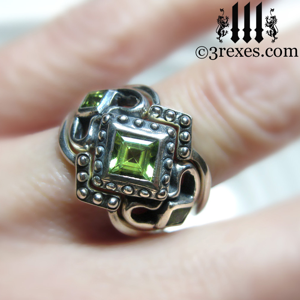 princess love gothic engagement ring with 2 stacking rings (stacking rings are extra)