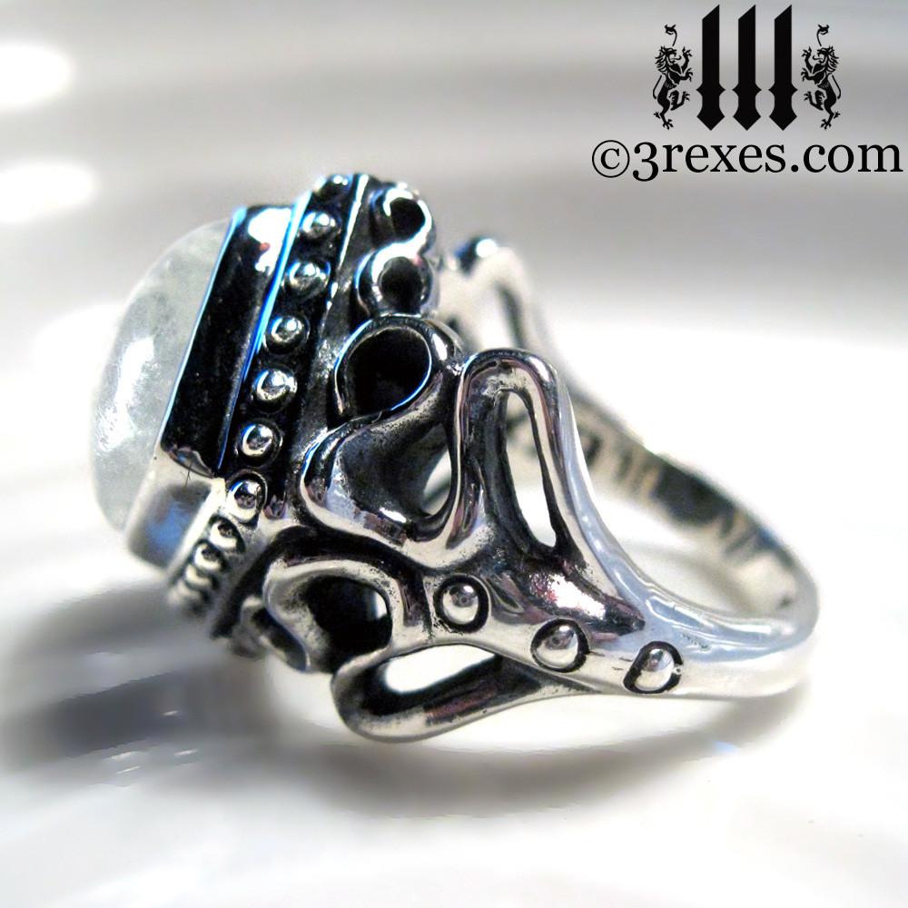 magic moonstone ring side detail
