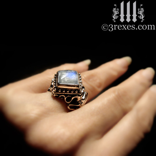 Raven Love Silver Wedding Ring 3 Rexes Jewelry