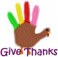Give Thanks Hand Turkey