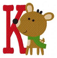 Reindeer Happiness Christmas Monogram Set