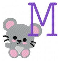 MiMi the Mouse Monogram Set