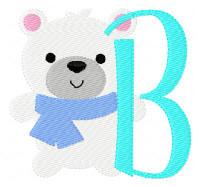 Polar Bear Winter Monogram Set