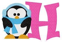 Baby Its Cold Penguin 5x7 Monogram Set