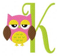 Owl Attitude Monogram Set
