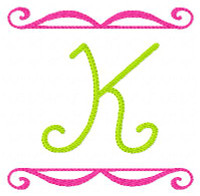Summer Swirl Monogram Set