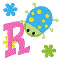 Garden Bug Cutie Ladybug Monogram Set