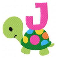 Polka Dot Turtle Monogram Set