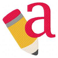 Pencil Alphabet School Monogram Set