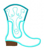 Boot Scoot Cowboy Cowgirl Country 5x7 Applique