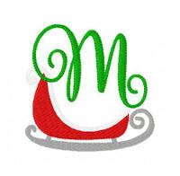 Sleigh Ride Christmas Monogram Set