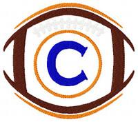 Football 5x7 Monogram Font Design Set Team Colors