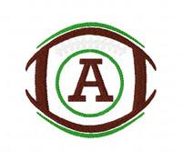 Football 4x4 Monogram Font Design Set Sports