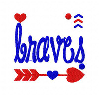 Braves Sports Embroidery Design