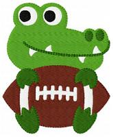 Gator Mascot Football Single