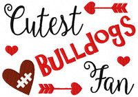 Bulldogs // Football // Cutest Fan // Bonus Included