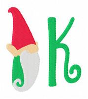 Gnome Christmas Winter Monogram Set
