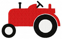 Red Farm Tractor Embroidery Design